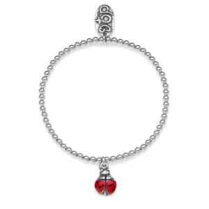 Mini Boule Bracialet Ladybug in Sterling silver and Enamel