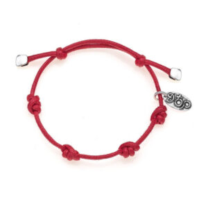 Bracelet Base in Red Waxed Cotton Rope