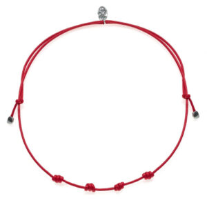 Necklace Chain in Red Wax Cotton Rope