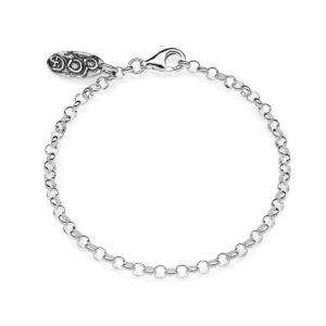 Bracelet Base Mini Rolò Sterling Silver