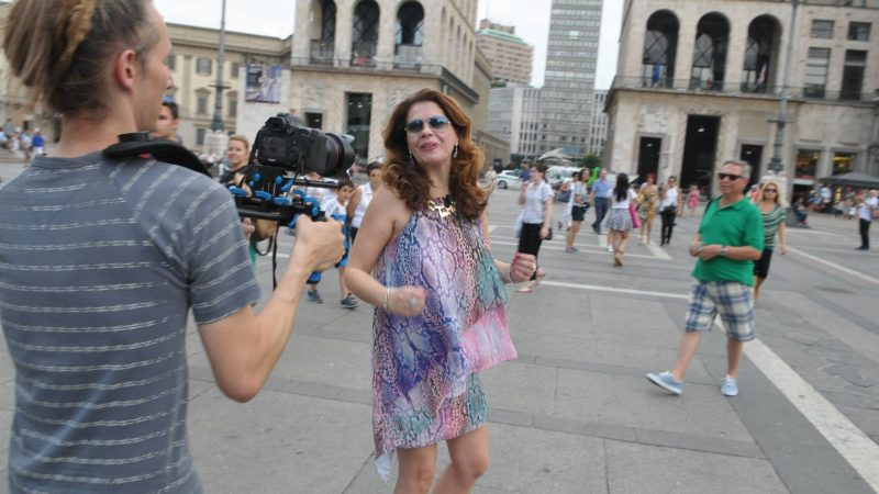 Filming in Milano Italy
