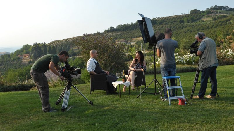 Filming in the region of Piedmont